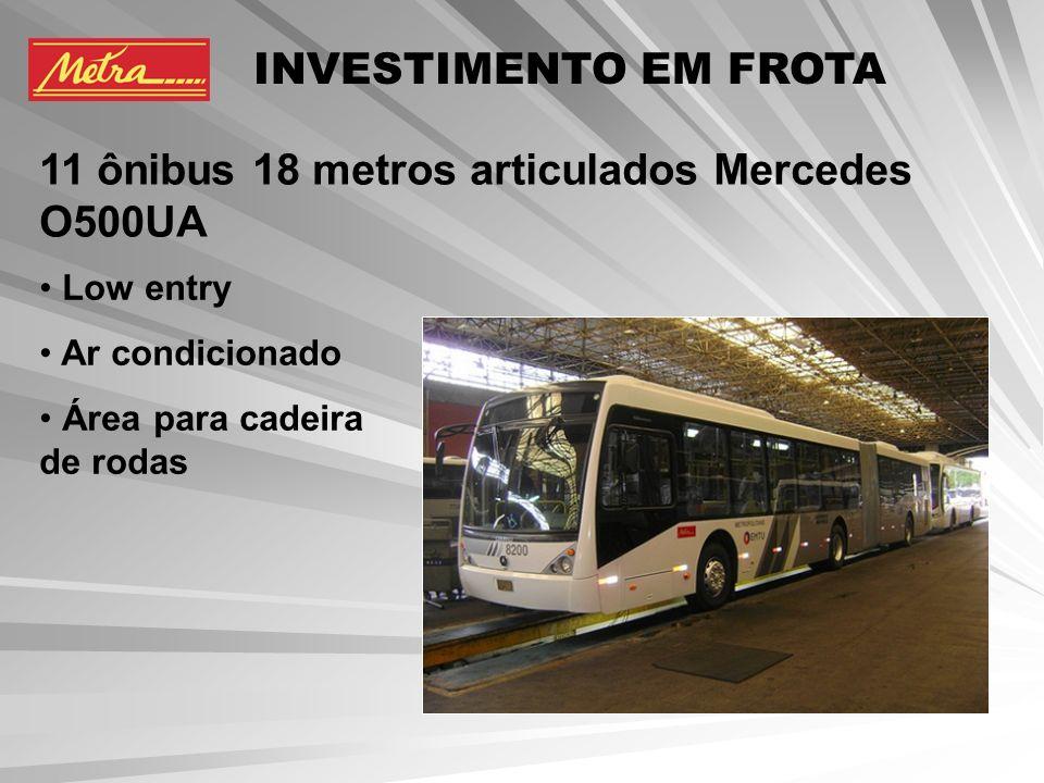 11 ônibus 18 metros articulados Mercedes O500UA