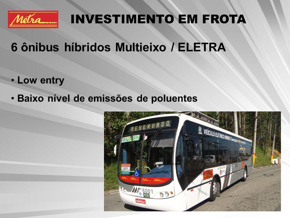6 ônibus híbridos Multieixo / ELETRA