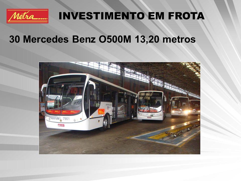 INVESTIMENTO EM FROTA 30 Mercedes Benz O500M 13,20 metros