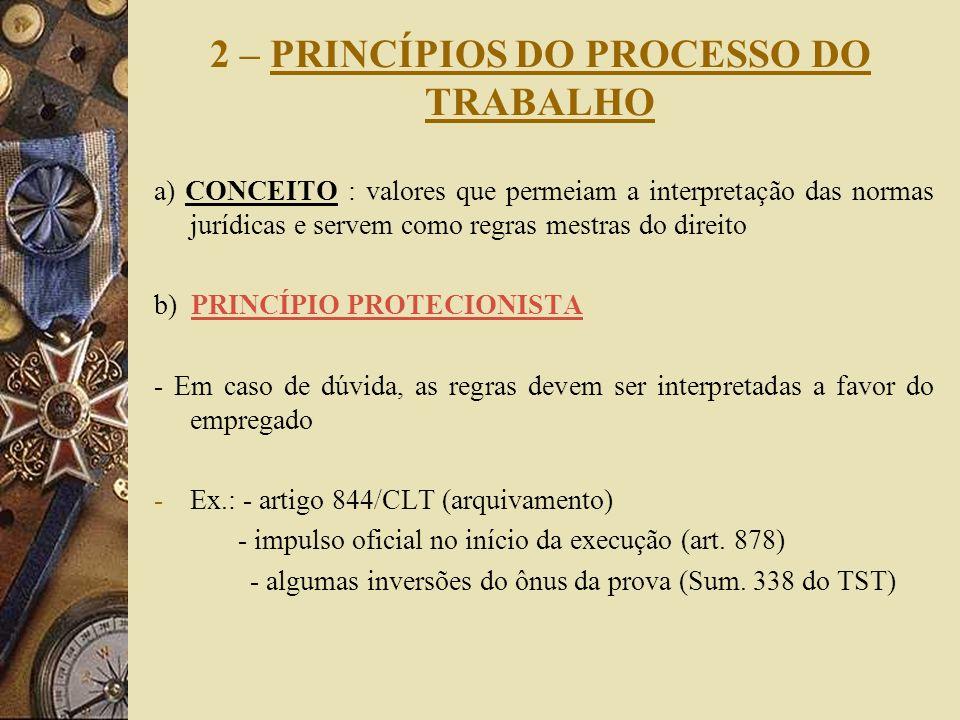 2 – PRINCÍPIOS DO PROCESSO DO TRABALHO