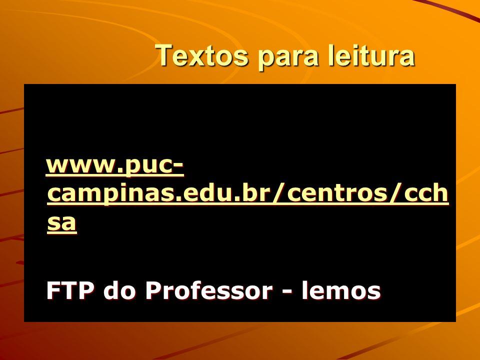 Textos para leitura www.puc-campinas.edu.br/centros/cchsa