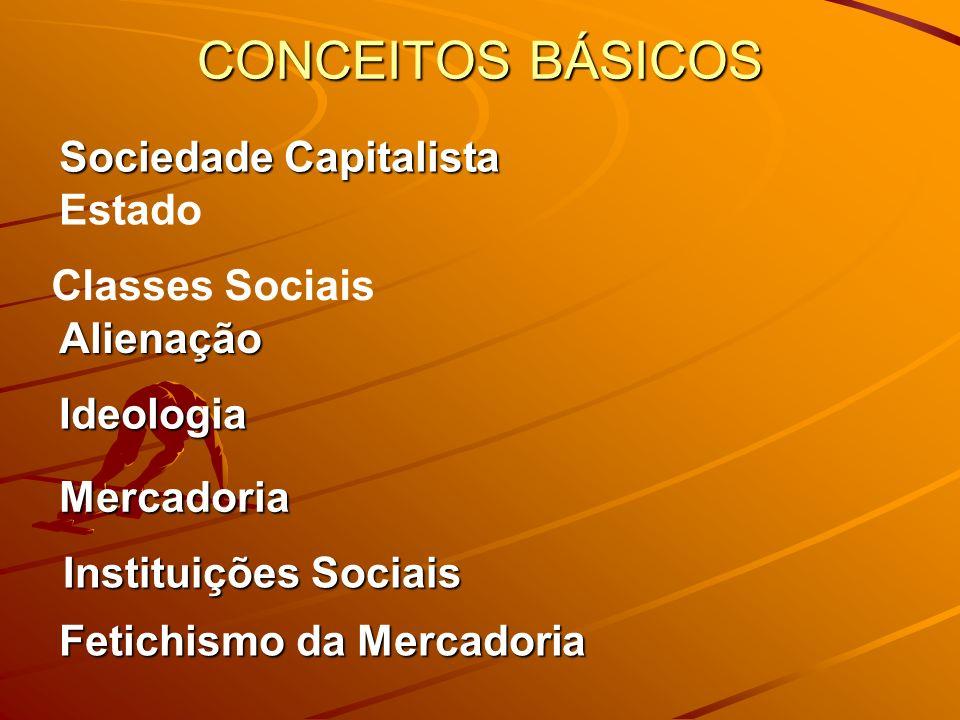CONCEITOS BÁSICOS Sociedade Capitalista Estado Classes Sociais