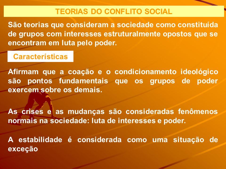 TEORIAS DO CONFLITO SOCIAL