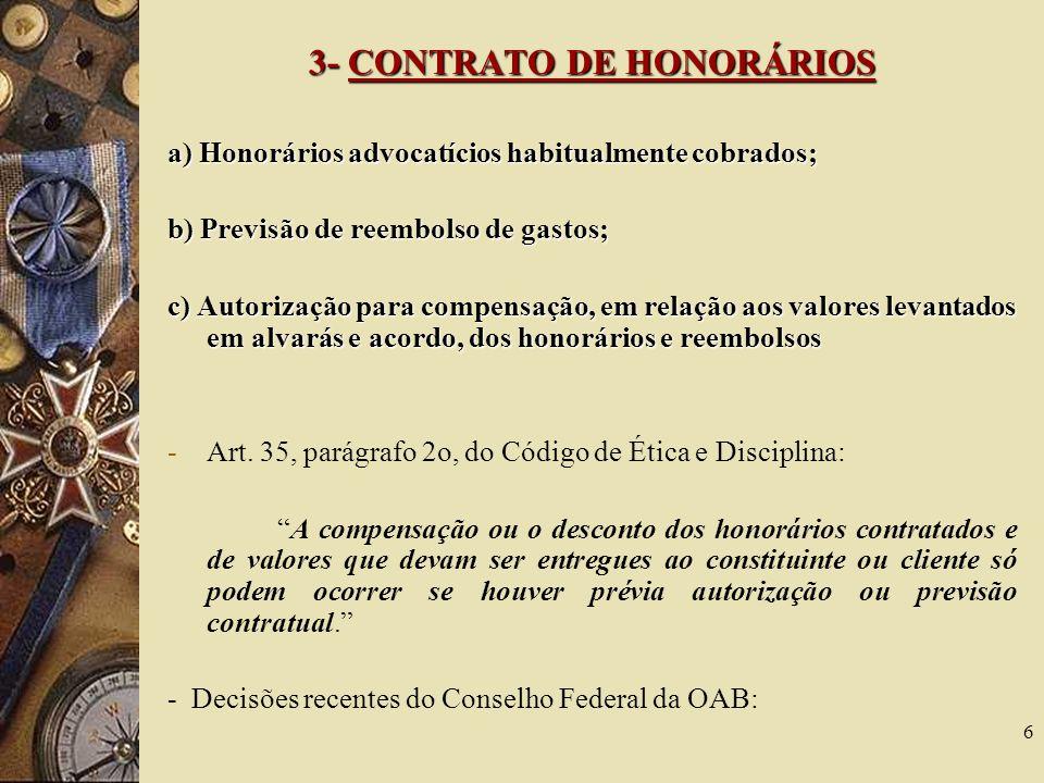 3- CONTRATO DE HONORÁRIOS