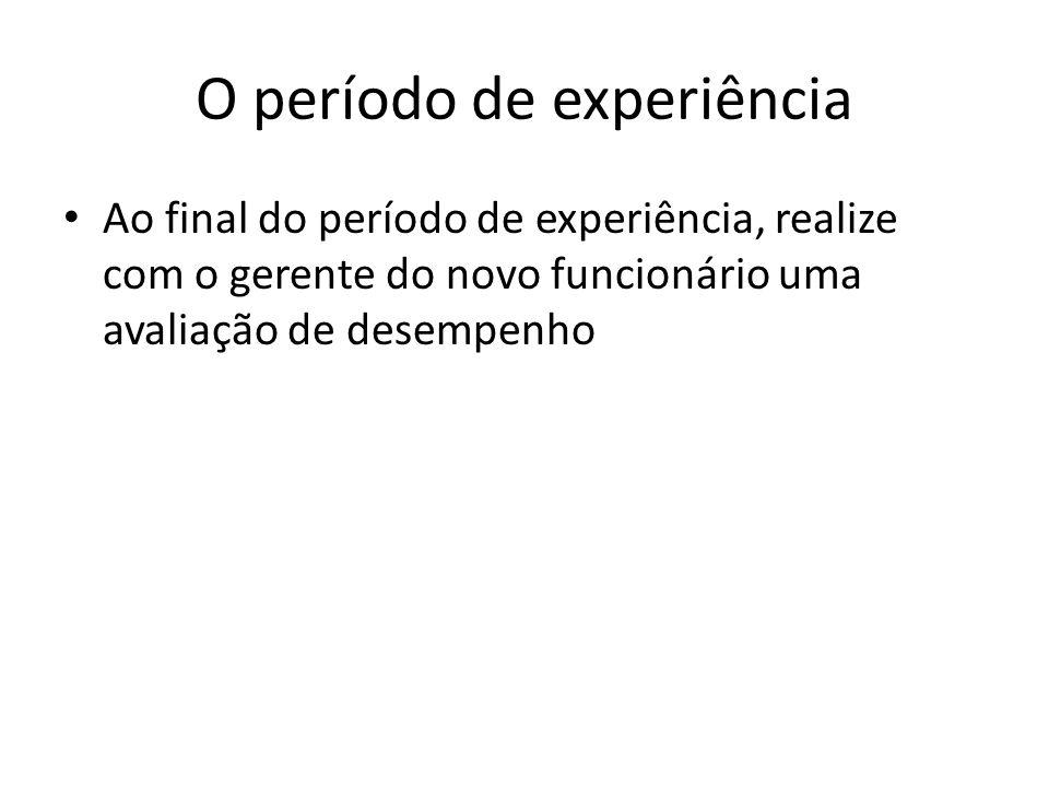 O período de experiência