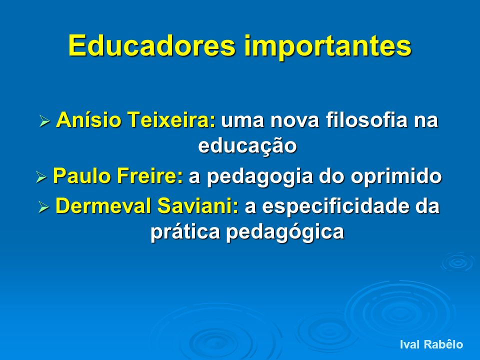 Educadores importantes
