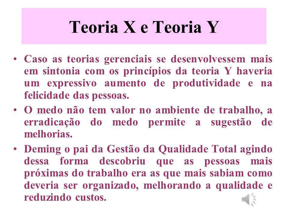 Teoria X e Teoria Y