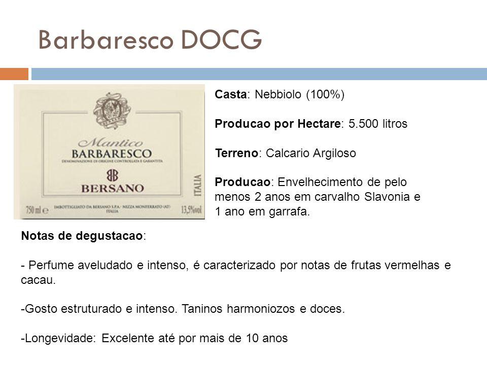 Barbaresco DOCG Casta: Nebbiolo (100%)