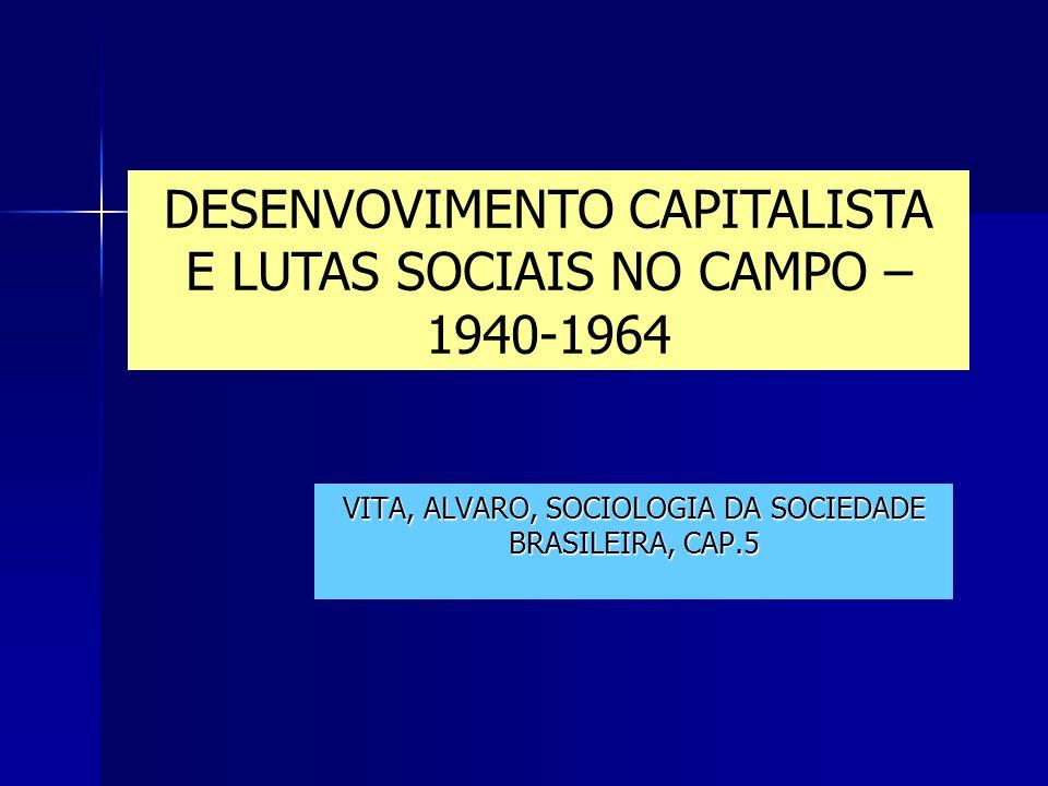 VITA, ALVARO, SOCIOLOGIA DA SOCIEDADE BRASILEIRA, CAP.5