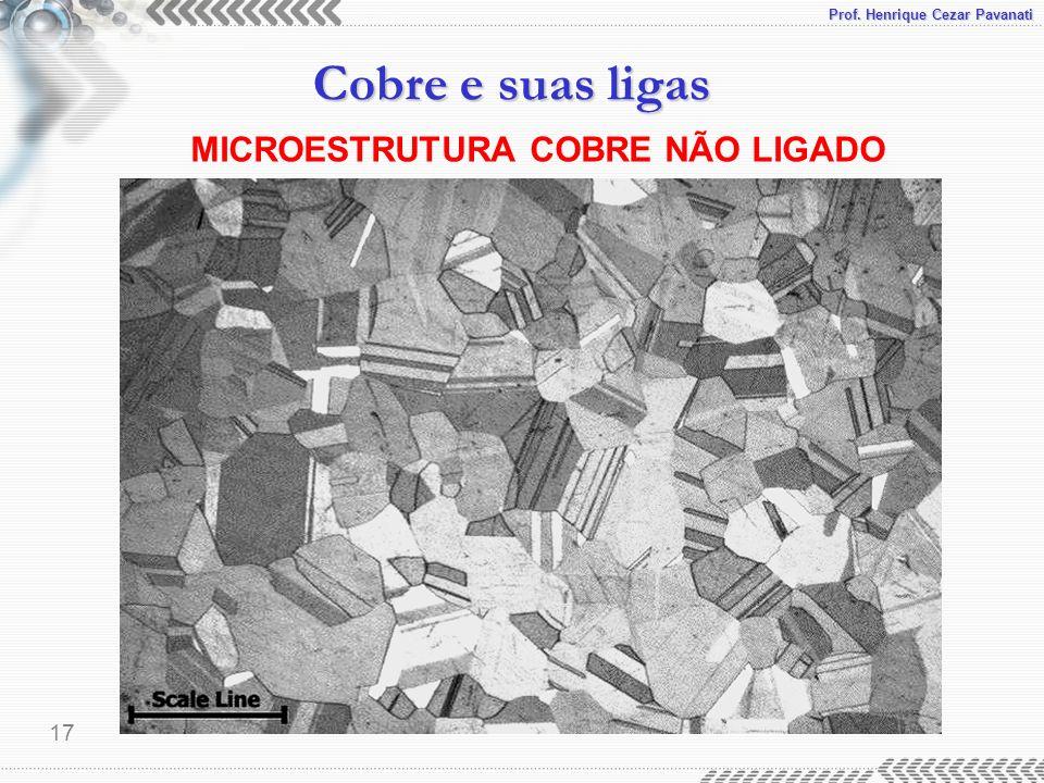 MICROESTRUTURA COBRE NÃO LIGADO
