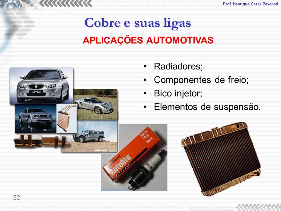 APLICAÇÕES AUTOMOTIVAS