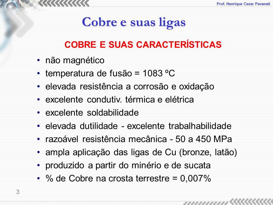 COBRE E SUAS CARACTERÍSTICAS