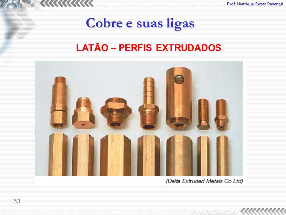 LATÃO – PERFIS EXTRUDADOS