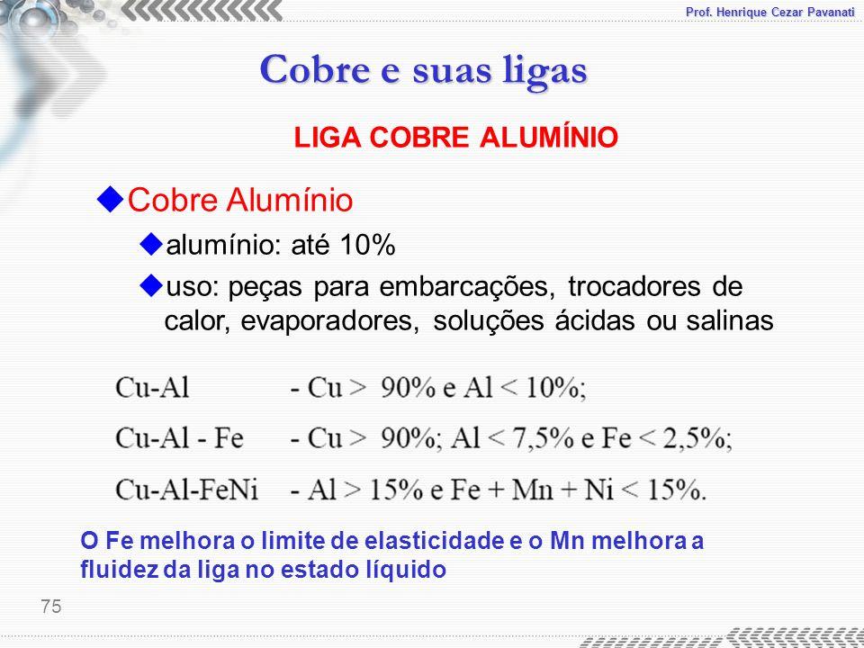 Cobre Alumínio LIGA COBRE ALUMÍNIO alumínio: até 10%