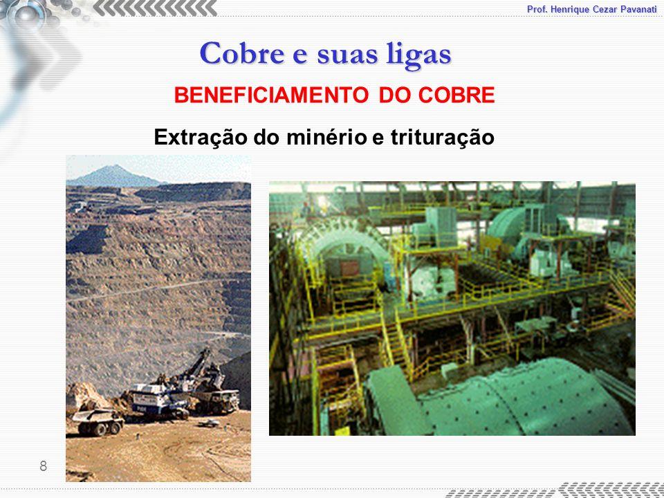 BENEFICIAMENTO DO COBRE Extração do minério e trituração