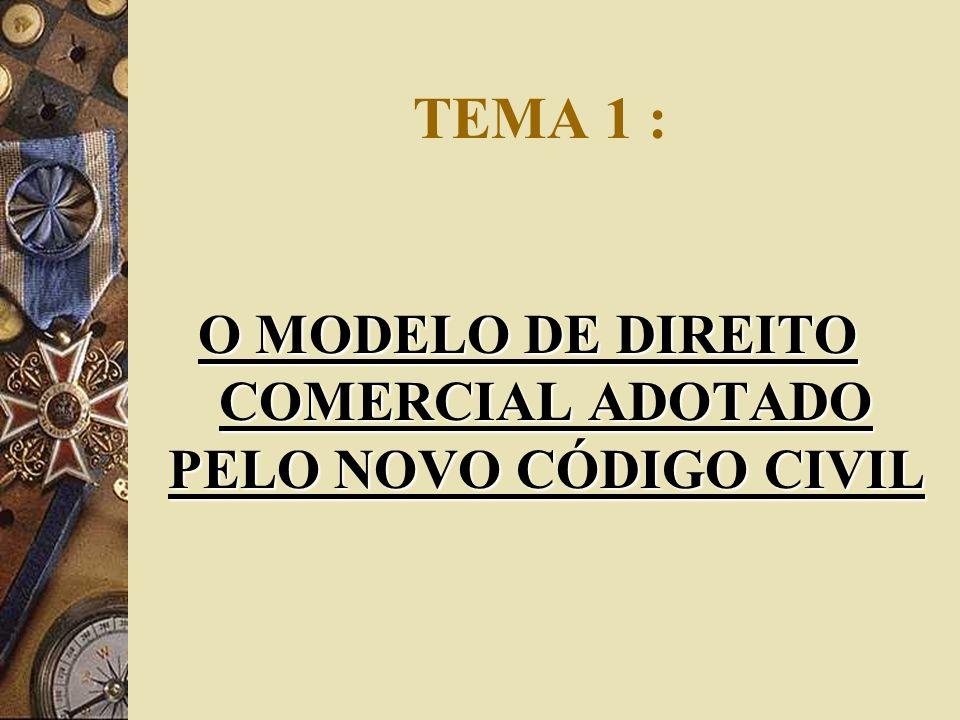 O MODELO DE DIREITO COMERCIAL ADOTADO PELO NOVO CÓDIGO CIVIL