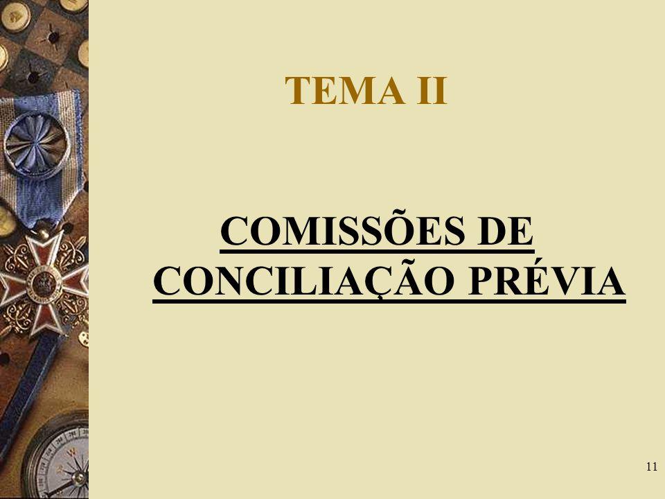 COMISSÕES DE CONCILIAÇÃO PRÉVIA