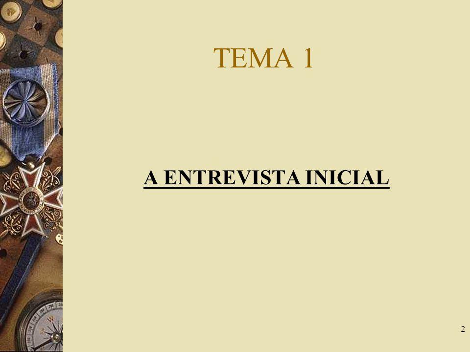 TEMA 1 A ENTREVISTA INICIAL