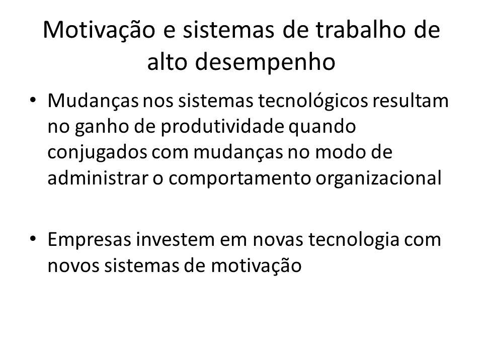 Motivação e sistemas de trabalho de alto desempenho
