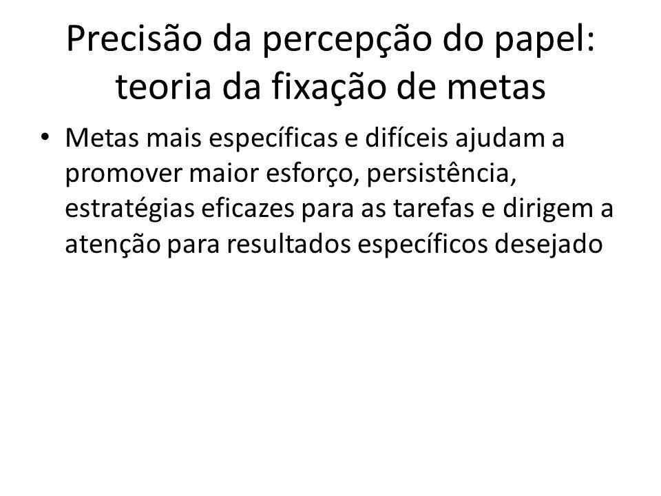 Precisão da percepção do papel: teoria da fixação de metas