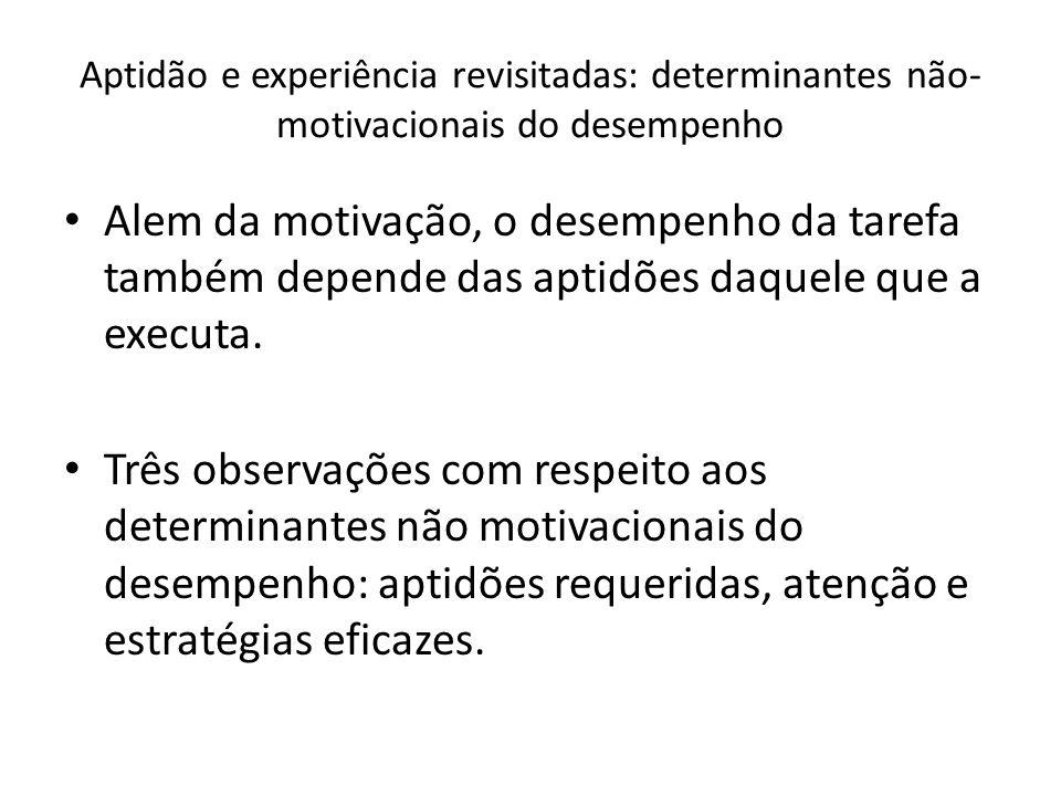 Aptidão e experiência revisitadas: determinantes não-motivacionais do desempenho