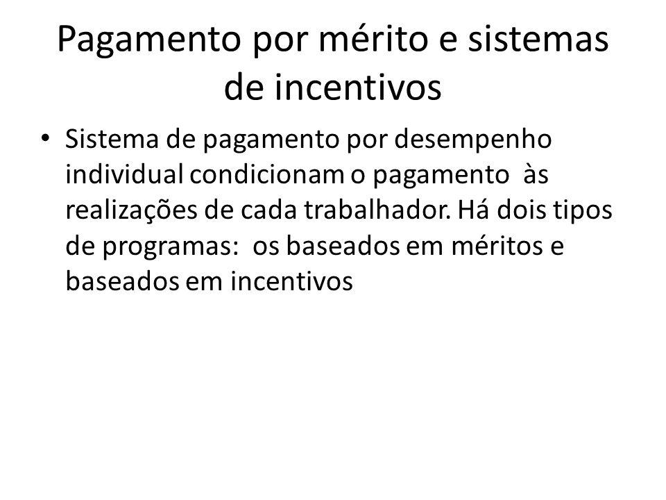 Pagamento por mérito e sistemas de incentivos