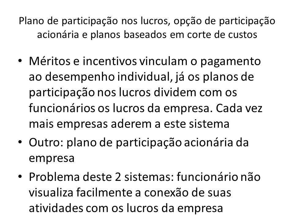 Outro: plano de participação acionária da empresa