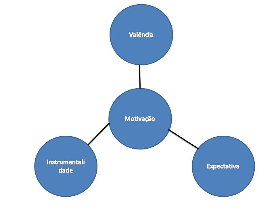 Valência Motivação Instrumentalidade Expectativa