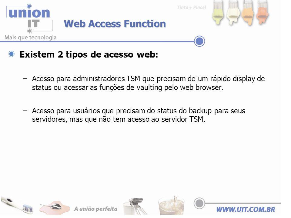 Web Access Function Existem 2 tipos de acesso web: