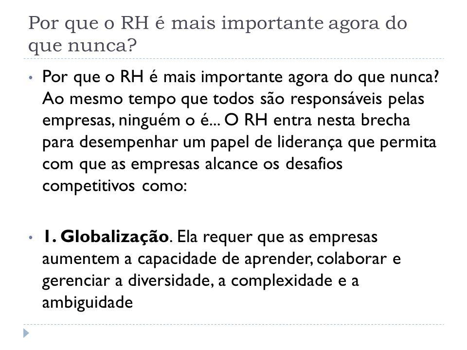 Por que o RH é mais importante agora do que nunca