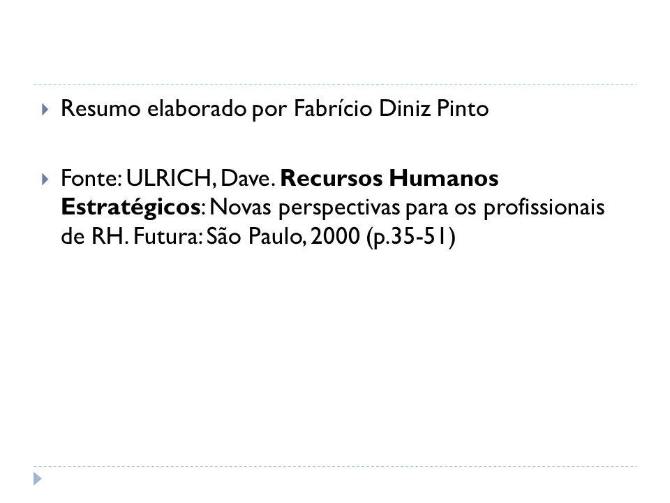 Resumo elaborado por Fabrício Diniz Pinto