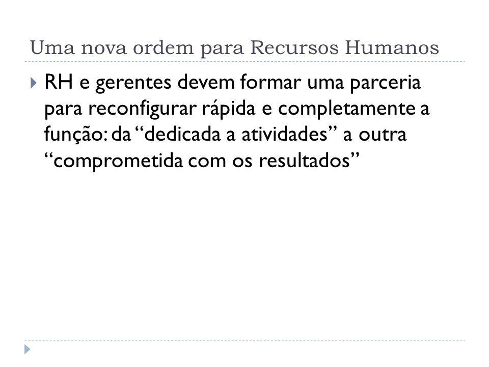 Uma nova ordem para Recursos Humanos
