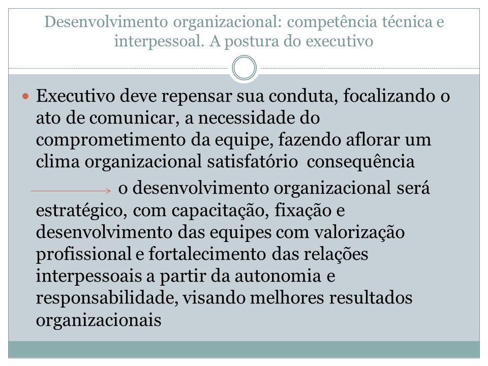 Desenvolvimento organizacional: competência técnica e interpessoal
