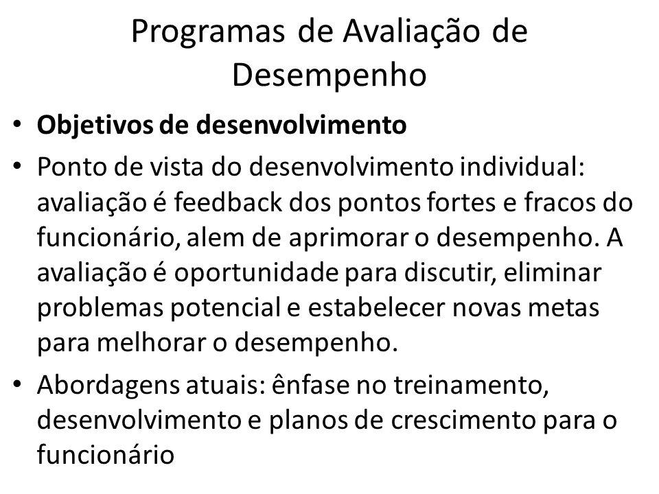 Programas de Avaliação de Desempenho