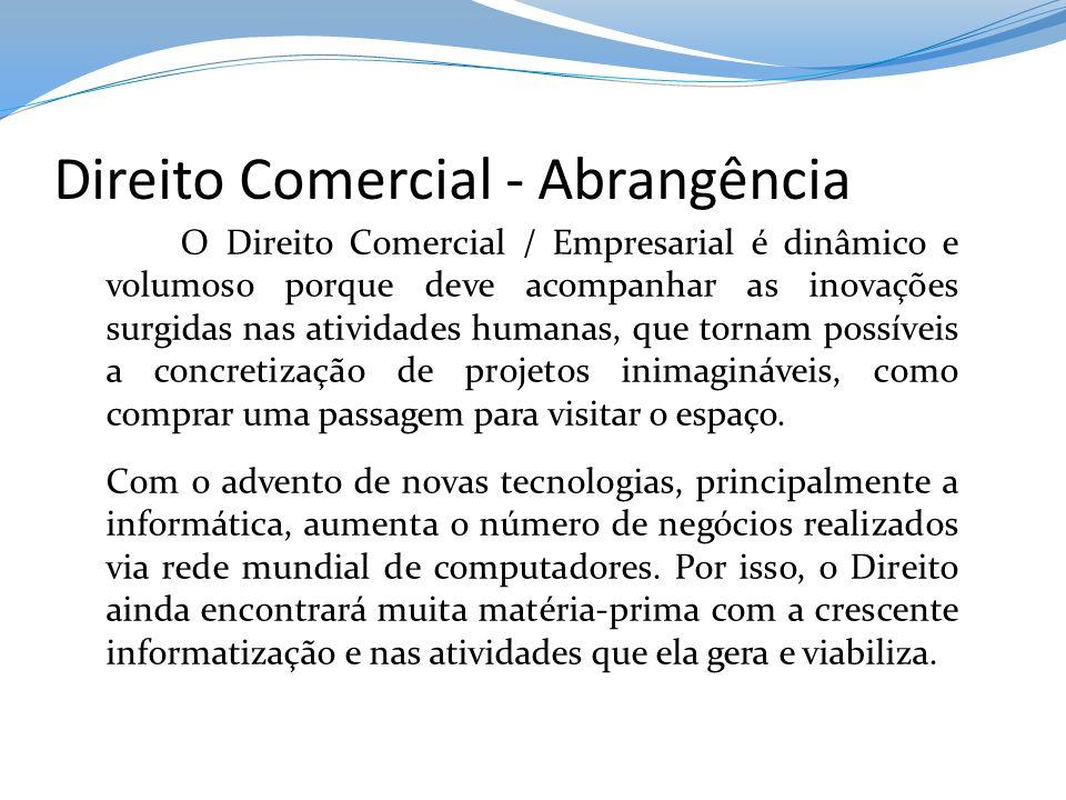 Direito Comercial - Abrangência