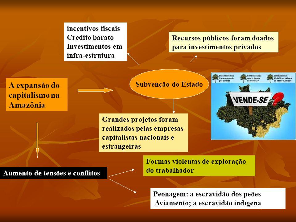 A expansão do capitalismo na Amazônia