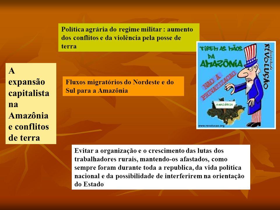 A expansão capitalista na Amazônia e conflitos de terra