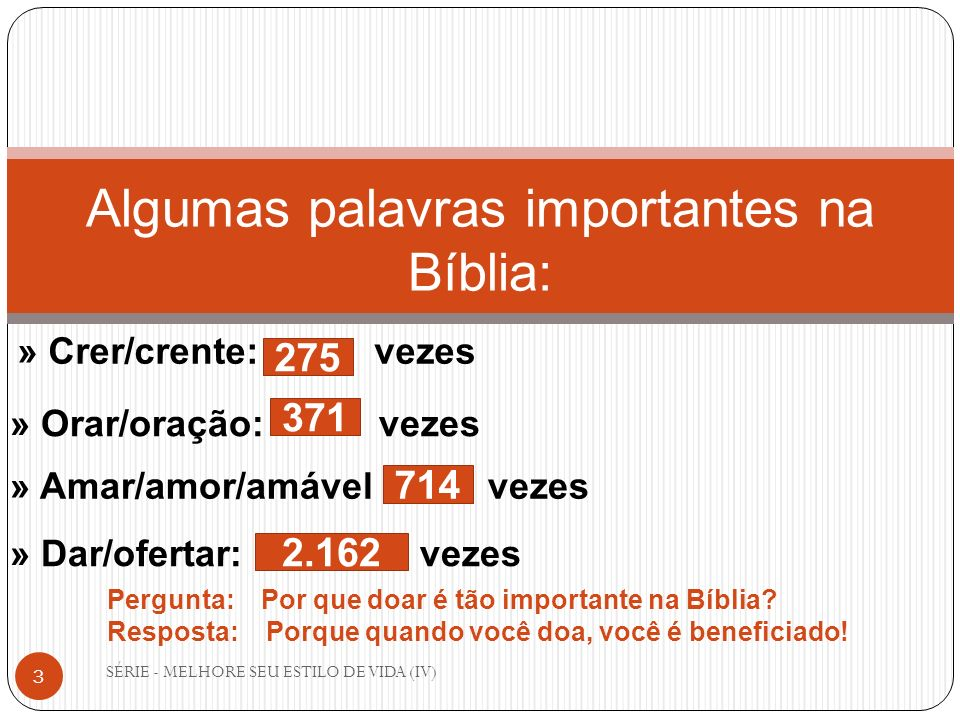 Algumas palavras importantes na Bíblia: