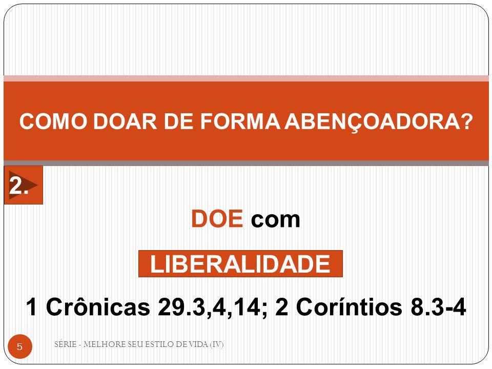 COMO DOAR DE FORMA ABENÇOADORA