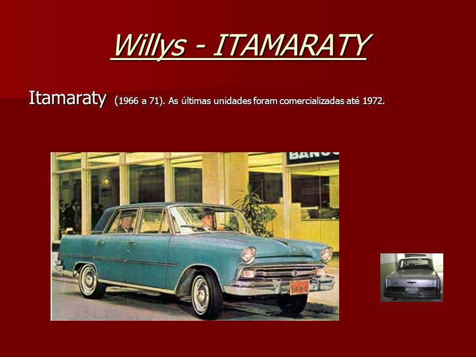 Willys - ITAMARATY Itamaraty (1966 a 71). As últimas unidades foram comercializadas até 1972.
