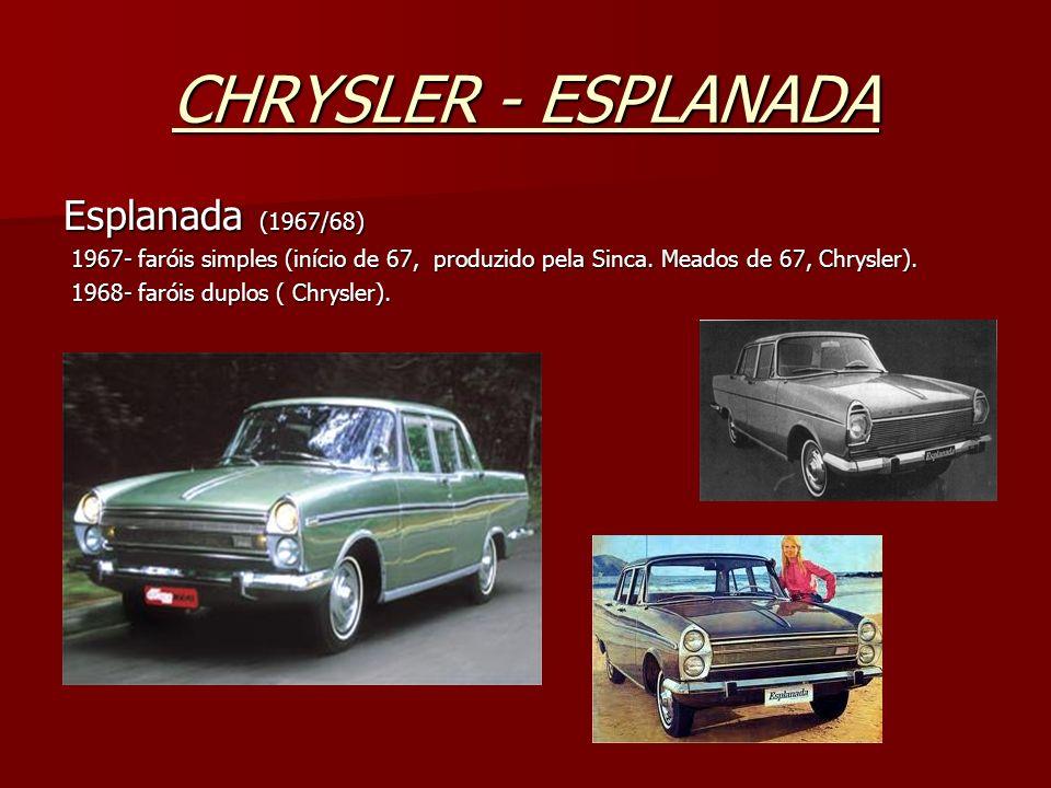 CHRYSLER - ESPLANADA Esplanada (1967/68)