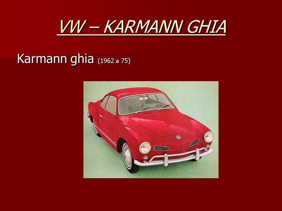 VW – KARMANN GHIA Karmann ghia (1962 a 75)