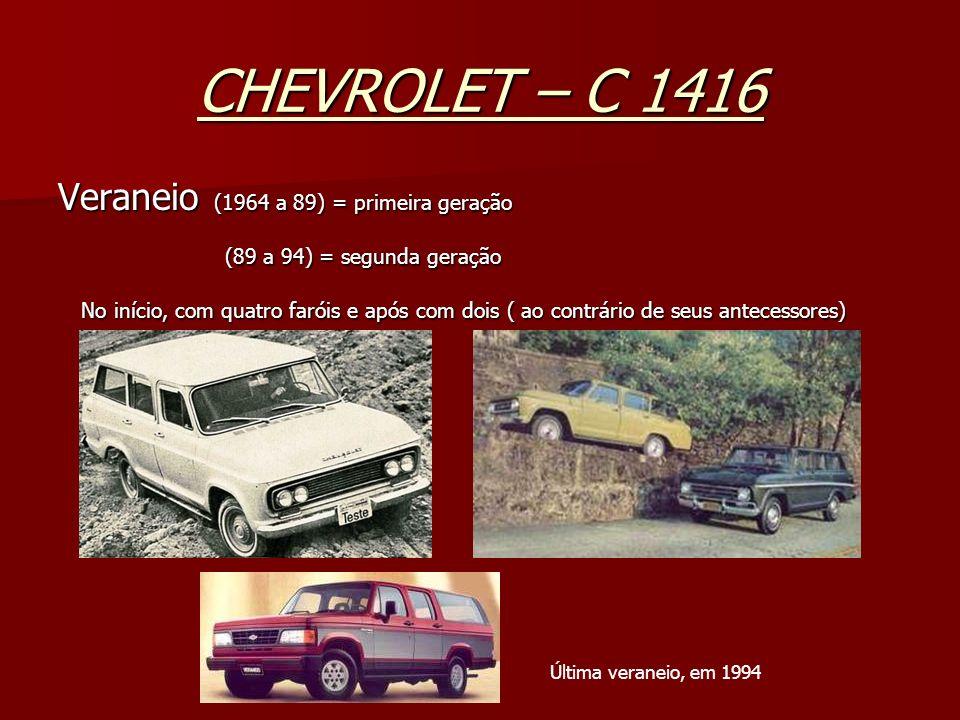 CHEVROLET – C 1416 Veraneio (1964 a 89) = primeira geração