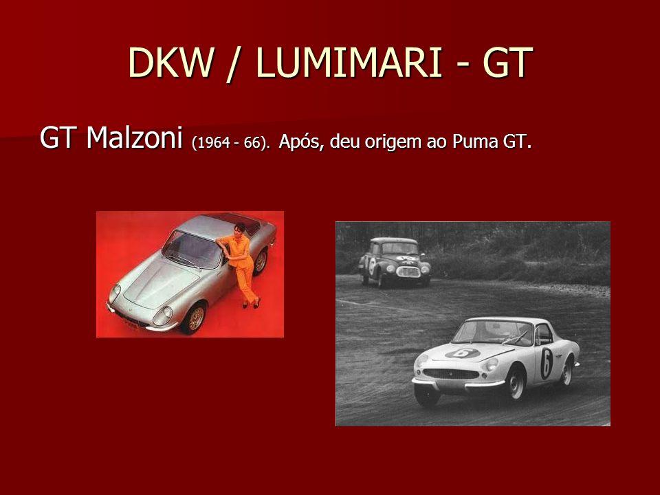 DKW / LUMIMARI - GT GT Malzoni (1964 - 66). Após, deu origem ao Puma GT.