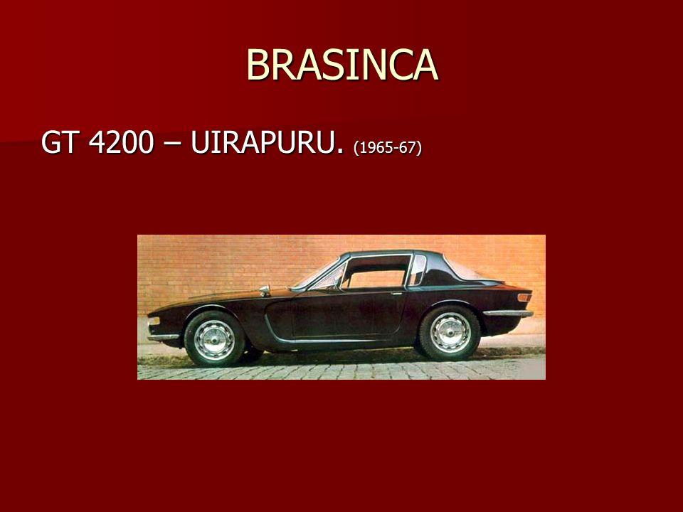 BRASINCA GT 4200 – UIRAPURU. (1965-67)
