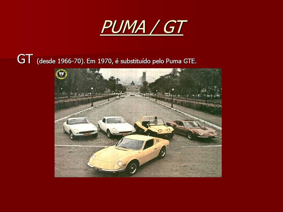 PUMA / GT GT (desde 1966-70). Em 1970, é substituído pelo Puma GTE.