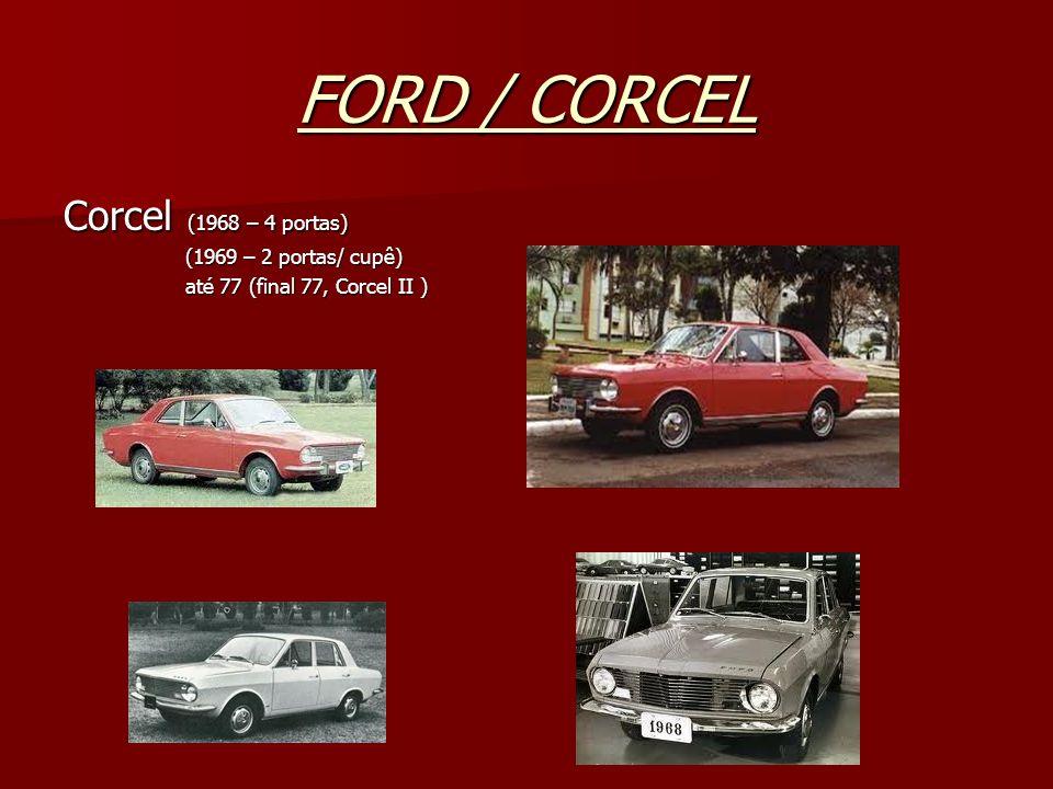 FORD / CORCEL Corcel (1968 – 4 portas) (1969 – 2 portas/ cupê)