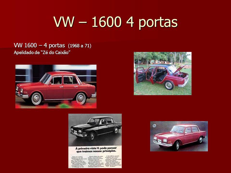 VW – 1600 4 portas VW 1600 – 4 portas (1968 a 71)