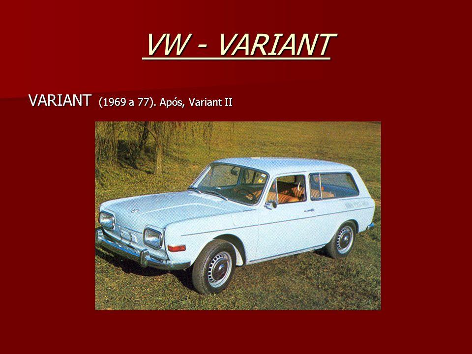 VW - VARIANT VARIANT (1969 a 77). Após, Variant II
