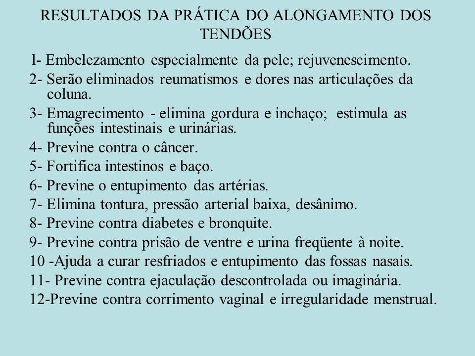 RESULTADOS DA PRÁTICA DO ALONGAMENTO DOS TENDÕES